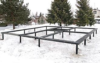 Винтовой фундамент Кемерово зимой по низким ценам. Винтовые сваи в Кемерово в наличии и под заказ.